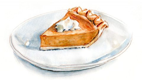 #WorldWatercolorGroup - Day 21 - Pumpkin Pie - Doodlewash