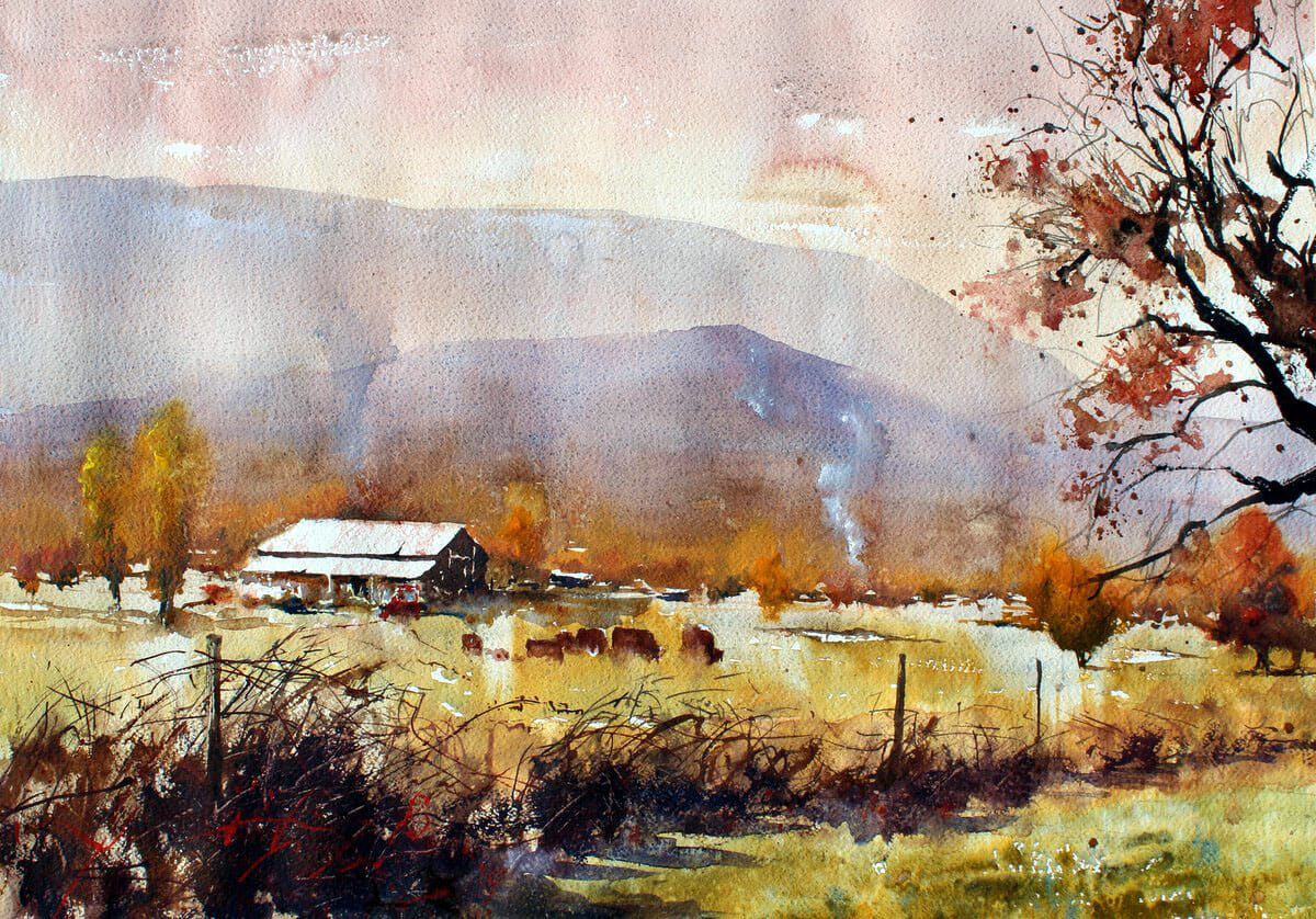 #WorldWatercolorGroup - Watercolor Painting by Vinita Pappas - Doodlewash