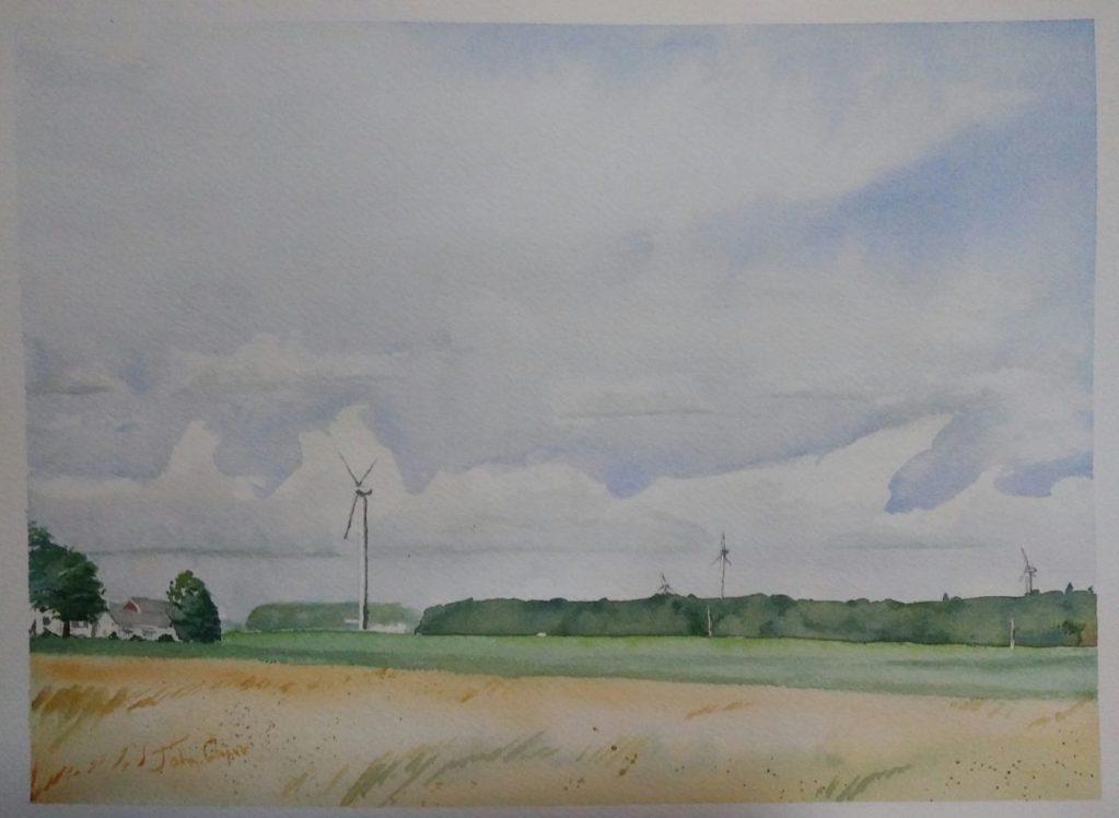 Wind farms. Ionia, Michigan. IMG_20170723_201048