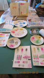 Yesterday was 'color theory' practice & experiment day. IMG_2727