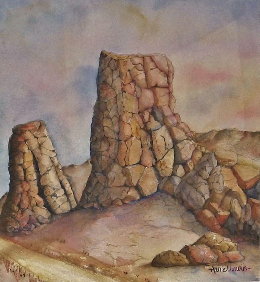 """I told you I love to paint rocks. I called this one, """"Rock of Ages."""" Rock of Ages4"""
