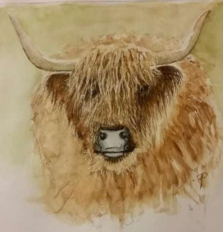 My last three challenges. Pig with lipstick is still a pigRowan, Mandy's Red PandaScottish Cow