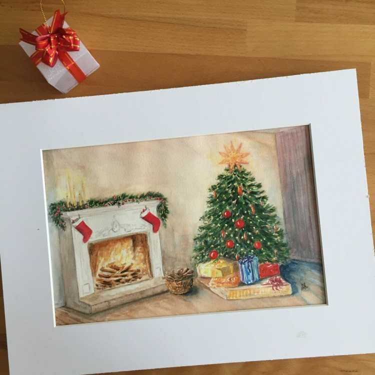Finished pic with fireplace and the tree. A bit overworked though. BEA472E6-2A49-4426-970D-EB41177AF