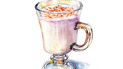 #WorldWatercolorGroup - Day 18 - A Little Eggnog - Doodlewash