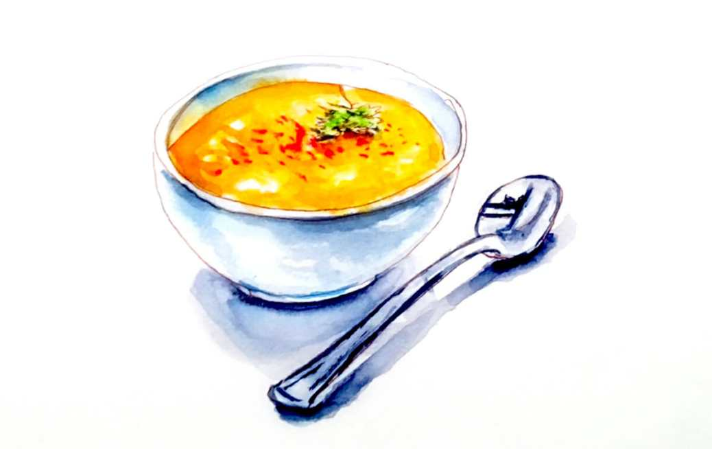 #WorldWatercolorGroup - Day 30 - Carrot Soup - Doodlewash
