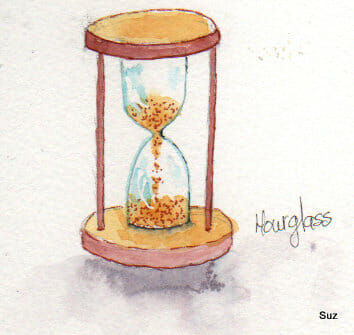 #WorldWatercolorGroup December Challenge Day 31: Hourglass The last day of December and the last day
