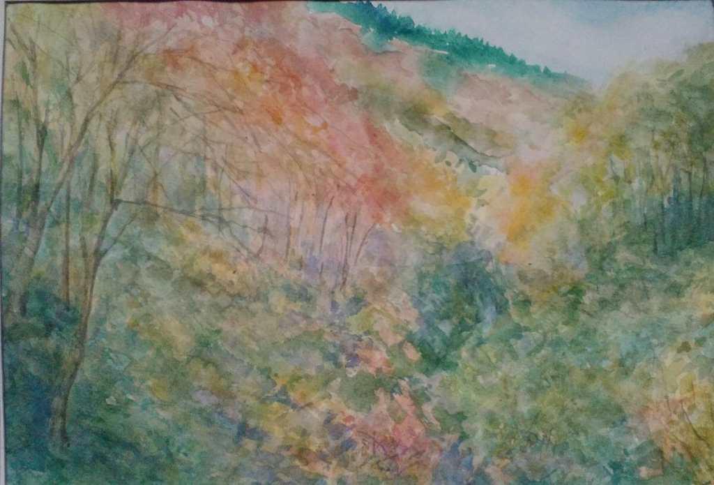 autumn forest(watercolor paper) momidzsi