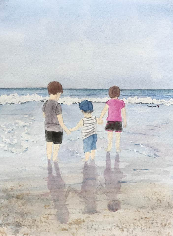 A friend's grandchildren at the beach 19247578_10211800120392456_3446880548672869399_n