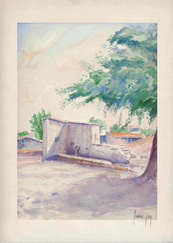 KADİR SEN ARTWORKS – WATERCOLORS Watercolor by #KadirSen #watercolor #artworks #World Watercolor