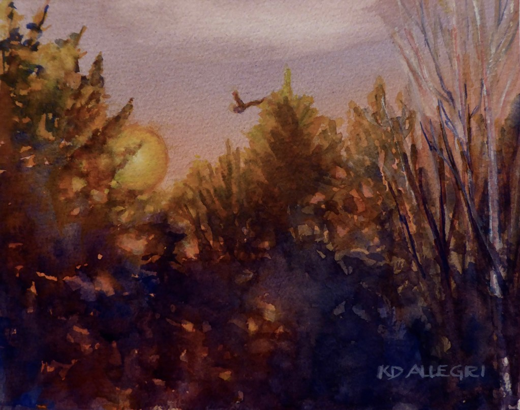 """""""Outside My Door, 2"""" WatercolorAutumn Turban Squash still lifeBicycling with Baby,"""