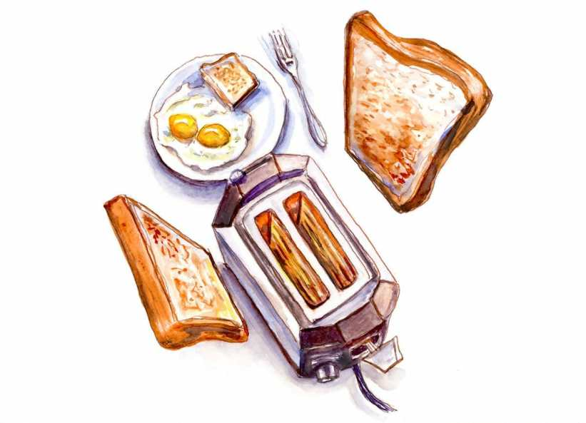#WorldWatercolorGroup - Day 1 - Morning Breakfast With Toast - Doodlewash