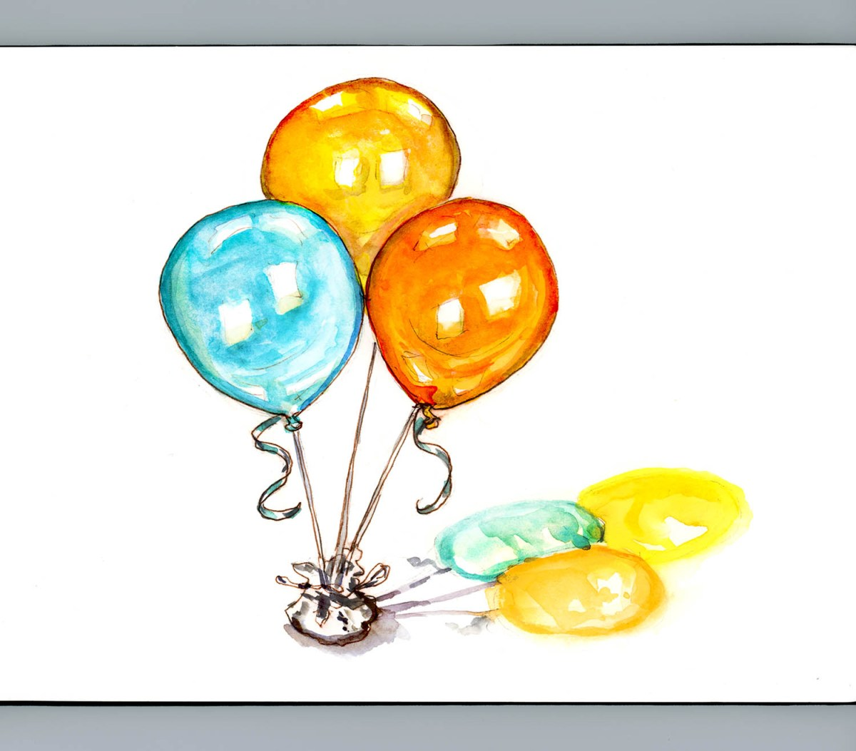 #WorldWatercolorGroup - Day 12 - Quick Little Balloons - Doodlewash