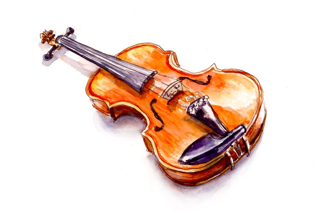 #WorldWatercolorGroup - Day 14 - Playing The Violin_IG - Doodlewash