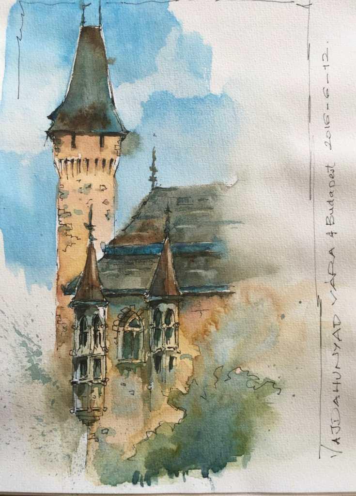 Vajdahunyad Castle, museum complex, Budapest City Park Vajdahunyad