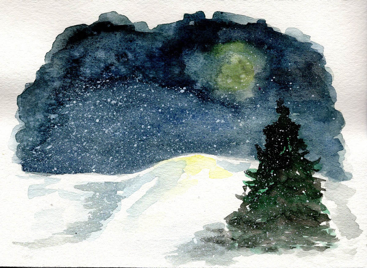#WorldWatercolorGroup - Watercolor by Kelsey Nolan - Doodlewash