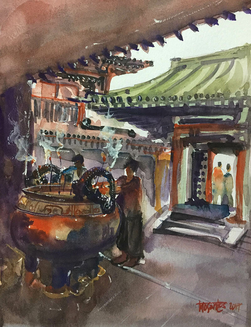 #WorldWatercolorGroup - Watercolor Painting by Mc Collin Dulay Delos Santos - Doodlewash