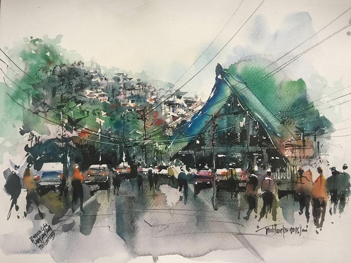 #WorldWatercolorGroup - Watercolor Painting by Mc Collin Dulay Delos Santos - Doodlewash