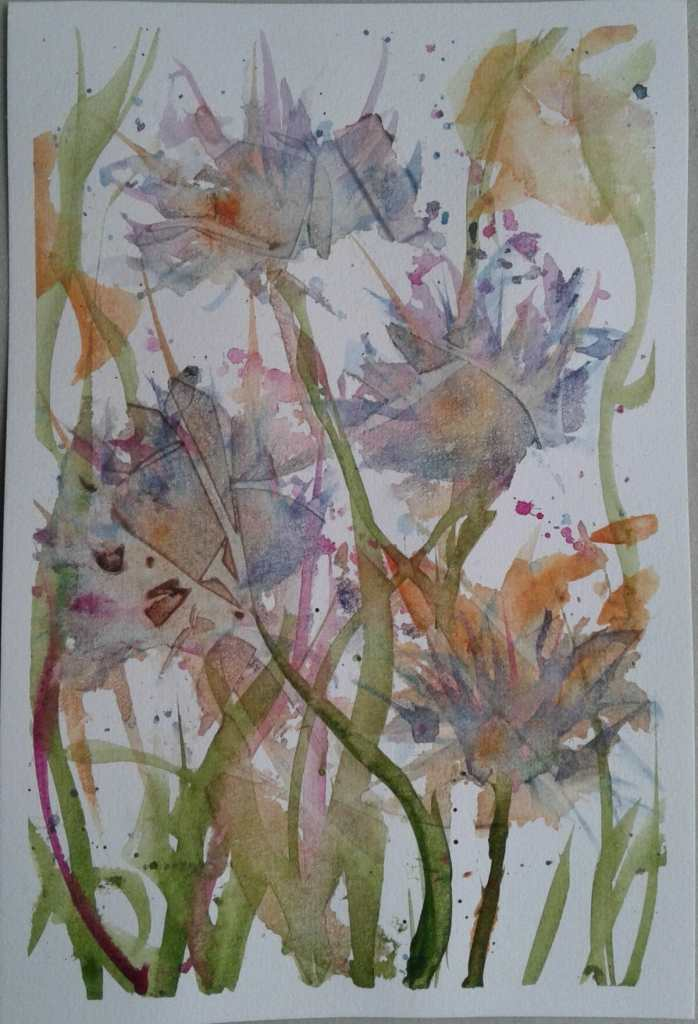 Day 221…wild flowers I'm generally pretty good at painting flowers, but last night it ju