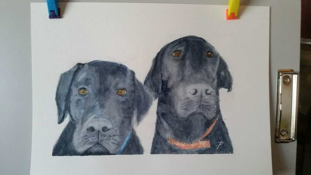 Portrait of two guys that I have not yet met… Boomer & Tank complete