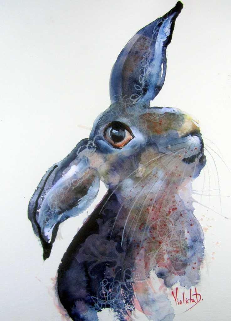 "Day 4, Wild Life: ""Blue Velvet"", watercolor on Hahnemühle 425 gsm, 30cm x 40 cm (Februa"