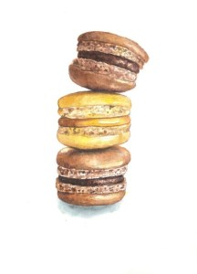 Chocolate, caramel, chocolate macaroons Open to your comments! Macarons