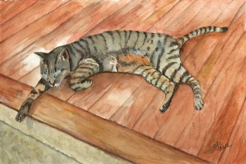A Cat Named Sneakers Sneakers painting
