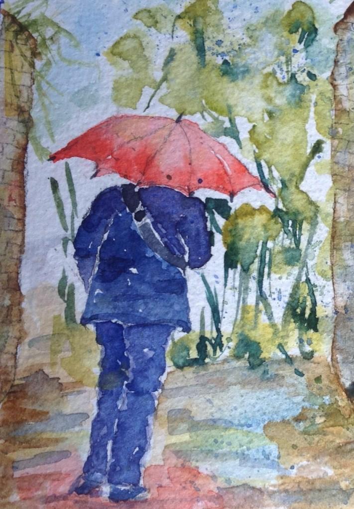 My friend in the Rain. image