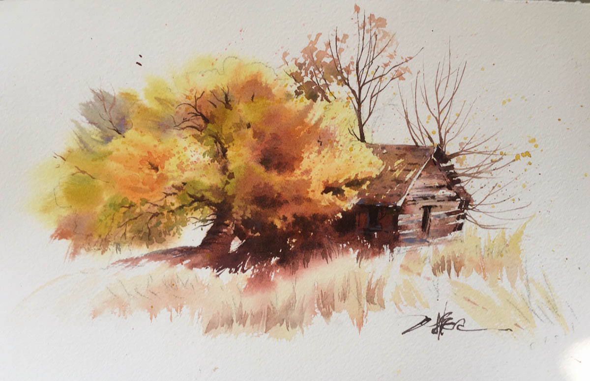 #WorldWatercolorGroup - Watercolor painting by Wang Zhenwei (Davidking) - Doodlewash