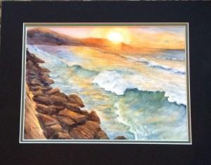 """Hawaii beach, 10"""" x 14"""" watercolor, 300lb cold press 141EE0F6-F0FB-4003-A292-5E7054D9FCD1"""