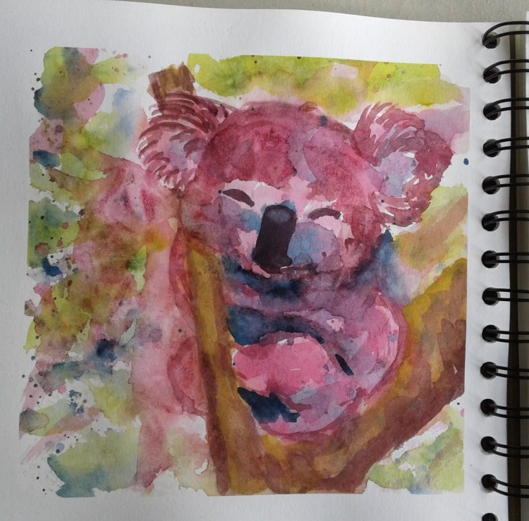 Day 257…cute I found the cutest image of a soft fuzzy koala. Mine didn't turn out very f