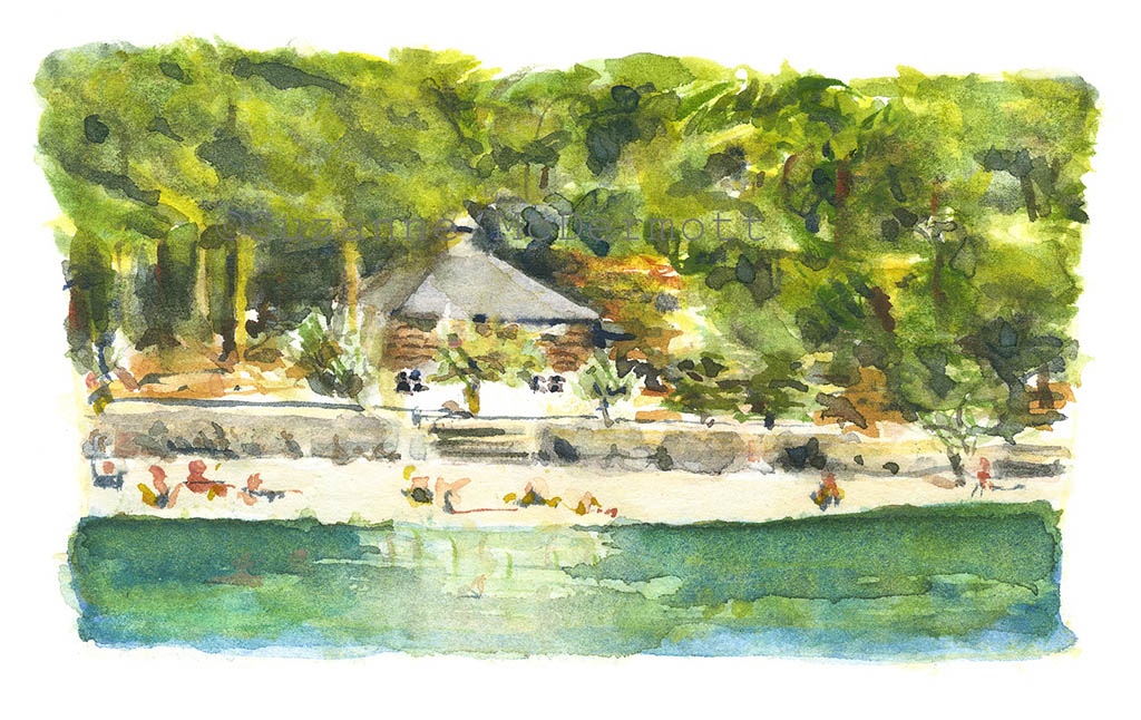 #WorldWatercolorGroup - Watercolor Painting by Suzanne McDermott - Doodlewash