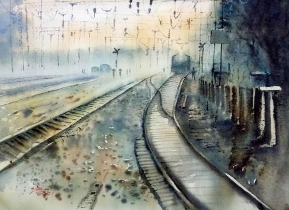 #WorldWatercolorGroup - Watercolor Painting by Subhajit Paul - Doodlewash