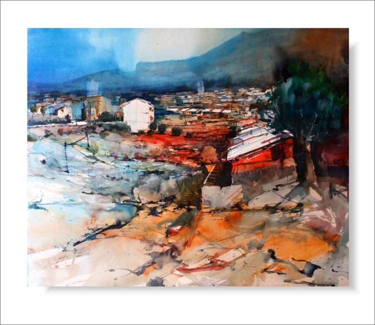Callet #44 Acuarela de Juan Miguel Álvarez Páez. Callet 44, Original de Juan Miguel Álvarez Páez
