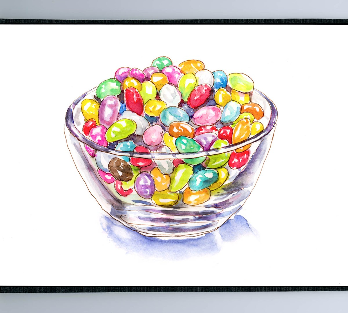 #WorldWatercolorGroup - Day 23 - Snacking On Jelly Beans - Doodlewash