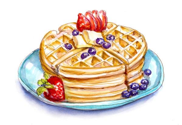 #WorldWatercolorGroup - Day 27 - A Bit Of Waffling - Doodlewash