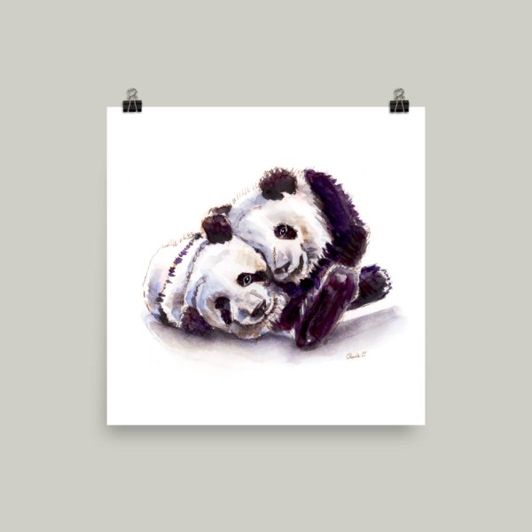 Giant Panda Watercolor Print
