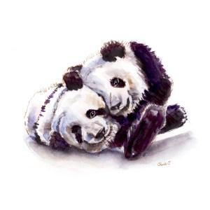 Giant Panda Watercolor Print