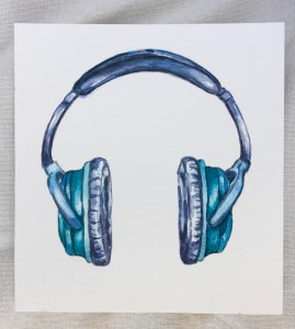 Turquoise Headphones-What Unicorns listen to music with! 🙂 For the prompt – Musical for Mar