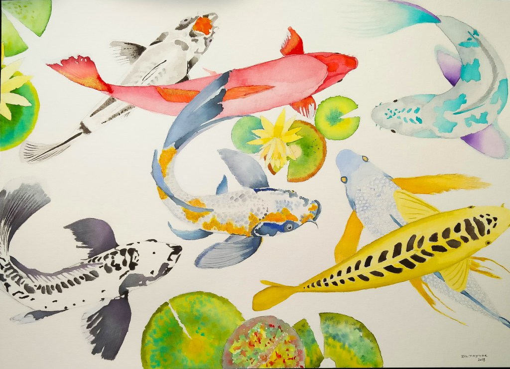 just a little something i did this week to fill in time.. KOI