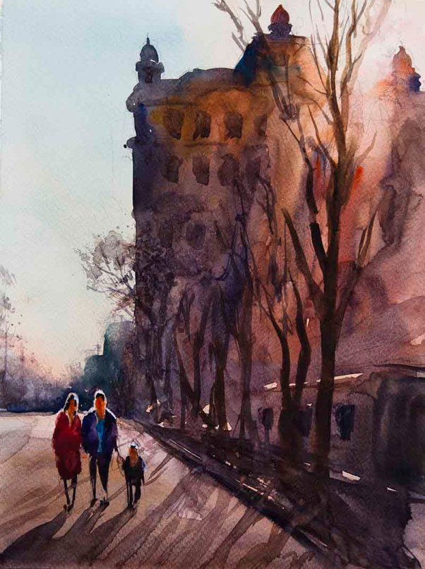 #WorldWatercolorGroup - Watercolor painting by Bakhtiyor Kadirov - Doodlewash