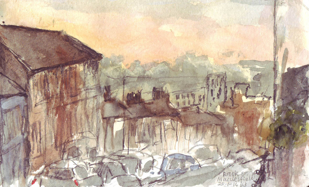#WorldWatercolorGroup - Watercolour Urban Sketching by Rosemary Bradshaw - Doodlewash