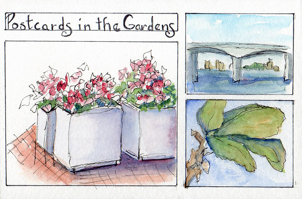 """Spent a fun day at Selby Gardens taking a """"Postcards in the Gardens"""" workshop with art j"""