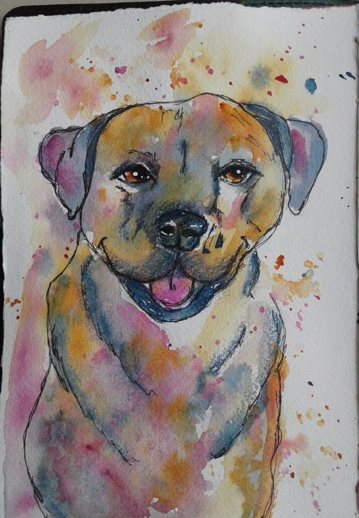 Day 286…pets I have tried multiple times to draw/paint my dog and it never turns out well. Whe