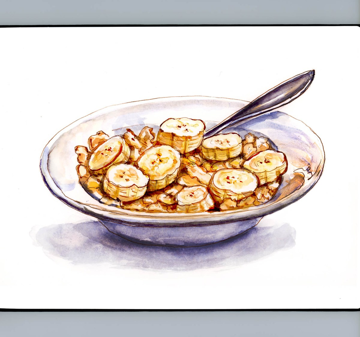 Day 11 - Corn Flakes With Bananas - Doodlewash - #doodlewashApril2018