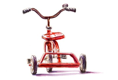 Day 24 - The Road To Adventure Childhood Tricycle_