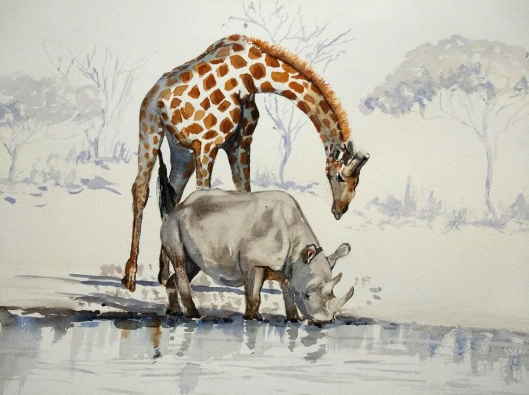 Watercolor Painting by Lisbe van Wyk - Doodlewash - #WorldWatercolorGroup
