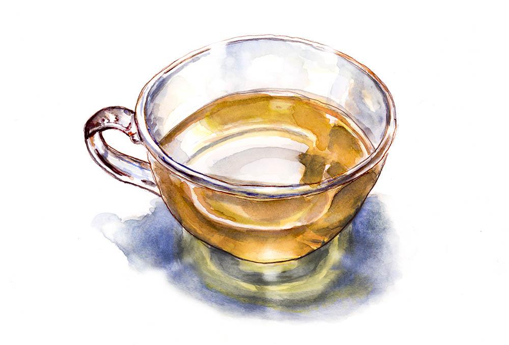 Glass Of Tea Da Vinci Moment ©Doodlewash