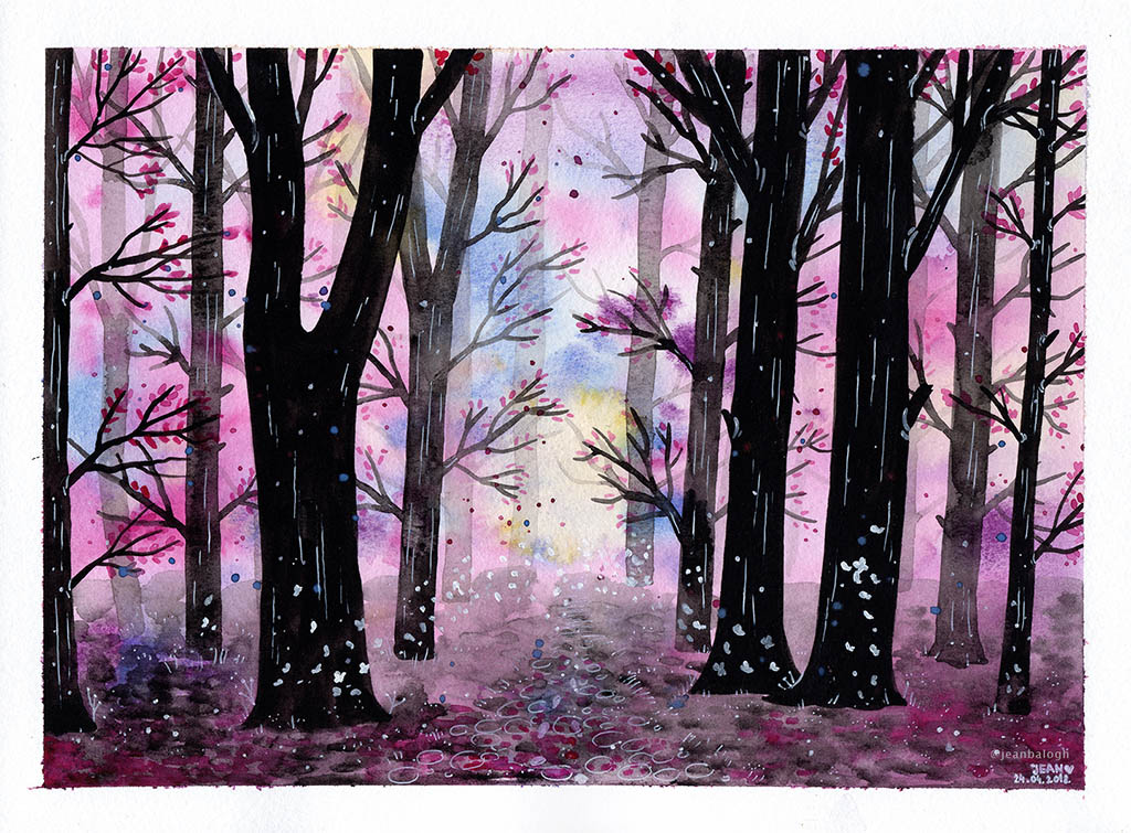 Somewhere Only We Know - Watercolor Illustration by Jean Balogh - Doodlewash