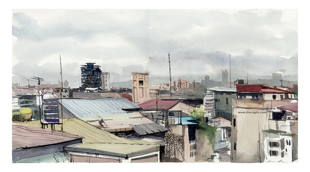 Watercolor Sketch by Erwin Lian - Doodlewash - Urban Sketchers