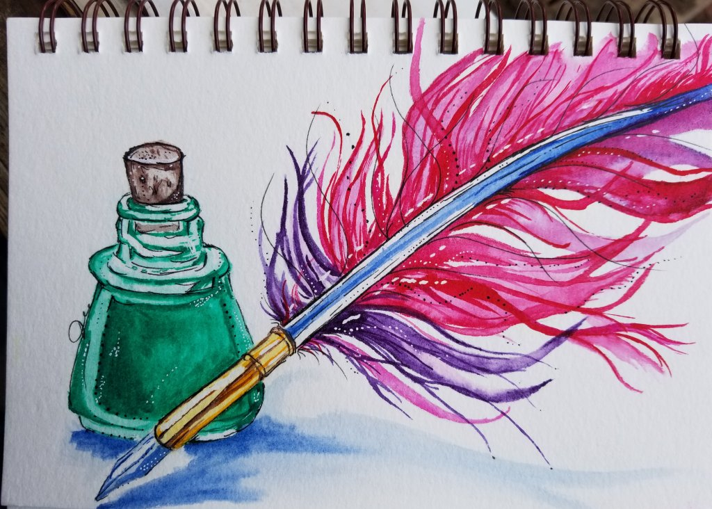 A little quill and ink for today\'s prompt. 20180520_170323